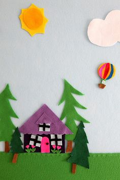 large felt board for the kids to play with. good for stop motion animation?