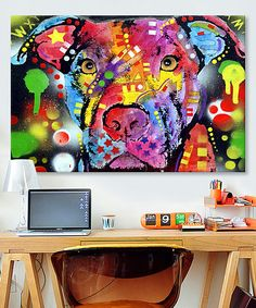 Look at this The Brooklyn Pit Bull Wrapped Canvas on #zulily today!