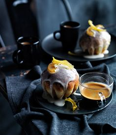 Glazed pear and sour cream buns recipe | Baking recipe | Gourmet Traveller recipe - Gourmet Traveller