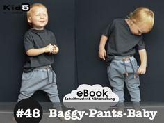 #48 Baggy-Pants-Baby eBook + Schnittmuster + Videoanleitung