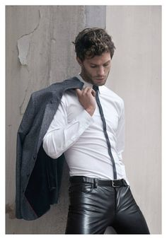 http://liamhubpages.hubpages.com/hub/Best-Leather-Pants-for-Men-2013 | More outfits like this on the Stylekick app! Download at http://app.stylekick.com