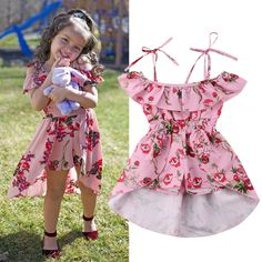 1 x Girl Dress. Dress Length Bust - Quality is the first with best service. Baby Girl Frocks, Frocks For Girls, Dresses Kids Girl, Kids Outfits Girls, Little Girl Outfits, Cute Baby Dresses, Girls Frock Design, Baby Dress Design, Baby Frocks Designs