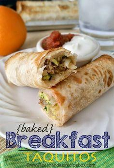 Leesh & Lu's Recipe Box: {Baked} Breakfast Taquitos - A family favorite