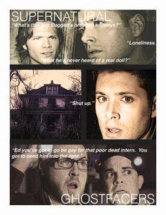 Supernatural Ghostfacers Tribute Print by Metallicar012479 on Etsy, $8.00 #Supernatural #SPN