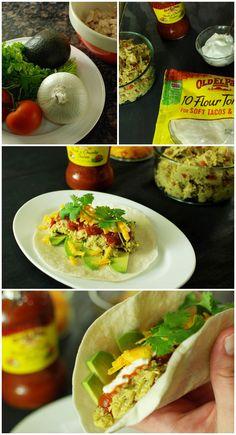 Easy Guacamole Chicken Tacos