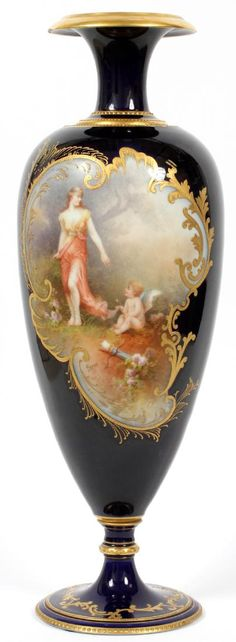 Lot: FRENCH LIMOGES WM. GUERIN PORCELAIN VASE, Lot Number: 62054, Starting Bid: $600, Auctioneer: DuMouchelles, Auction: Fine Art, Sculptures, Jewelry