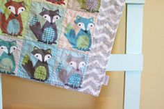 Fox Tails QUILT by PETUNIAS  baby blanket newborn by PETUNIAS, $81.00
