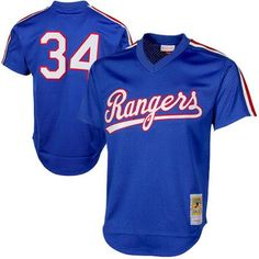Nolan Ryan Texas Rangers Mitchell & Ness 1989 Authentic Cooperstown Collection Mesh Batting Practice Jersey - Royal
