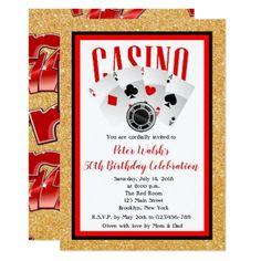 Glitter casino las vegas 50th birthday invitation invitations glitter casino las vegas 50th birthday invitation filmwisefo Images