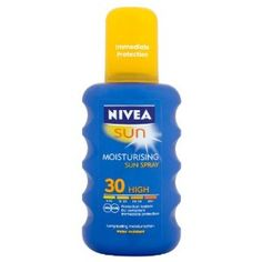 Nivea Sun Very High Moisturising Sun Spray - Nivea Sun Spray - Moisturising sun protection - long lasting and water resistant Product Features Please read instructions carefully before use Sun protection Sun Tan Cream Moisturising Spray Festival Essentials, Beach Essentials, Spray Moisturizer, Sun Lotion, Tea Tree Oil, Skin So Soft, Cleaning Supplies, Health And Beauty, Skin Care