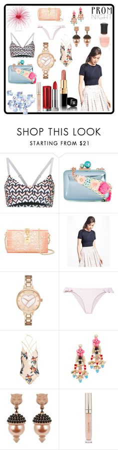 """""""prom night"""" by kristen-stewart-2989 ❤ liked on Polyvore featuring The Upside, Sophia Webster, Dolce&Gabbana, Brooks Brothers, Kate Spade, Anine Bing, Katie Eary, Adia Kibur, Gucci and Stila"""