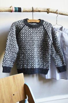 Sweater from Faroese Islands, Denmark | Færøsk Sweater Barn Garnkit - Englegarn - Englegarn. 2-8 years