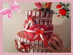 ▶ Sweets cake - Videotutorial - Торт из конфет - YouTube