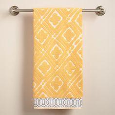 One of my favorite discoveries at WorldMarket.com: Pioneer Geo Sculpted Bath Towel