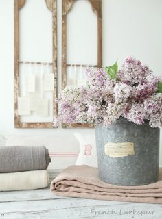 Lilacs - French Larkspur