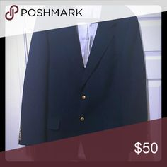 Navy Blue Captain's Suit Jacket Ever wanted to feel like a sailor while staying classy? Then this suit jacket is for you! Equipped with gold-colored buttons, go out in style and experience the sailor life. (I'd like to note that the blazer does not contain any tags nor is it branded, and is meant for someone taller and broader) Suits & Blazers Suits
