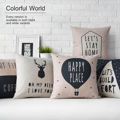 Cheap deer cushion, Buy Quality house de coussin directly from China cushion cover Suppliers: Nordic geometric Pillow,house de coussin decoration deer cushions cover sofa cushion decorative Throw Pillows For Sofa White Cushion Covers, White Cushions, Cushions On Sofa, Modern Decorative Pillows, Decorative Pillow Covers, Sofa Pillow Covers, Pillow Cases, Ideas Hogar, Decor Pillows
