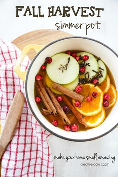 Fall Harvest Simmer Pot Recipe Can Be Used as a Stove Top or Crock Pot Simmer, Make Your Home Smell Amazing and Festive