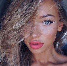 beautiful, beauty, blue, blush, contour, cute, eyebrows, eyelashes, eyeliner, eyes, eyeshadow, face, fashion, girl, girls, goals, hair, highlighter, lips, lipstick, mascara, matte, model, nails, perfect, pretty, red, selfie, style, tan, winged