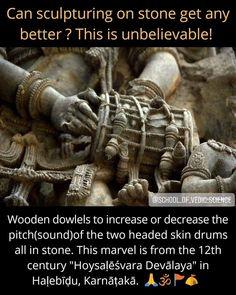 Drum details in stone
