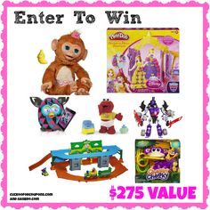 #Giveaway: Hasbro Holiday Prize Pack $275 Value! {FurReal Friends Cuddles Monkey, Transformers and More!}