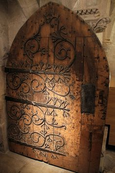 """Church door. Wells, Somerset, in the west of England. Dave Adair photography"" ... I love scrolls..."