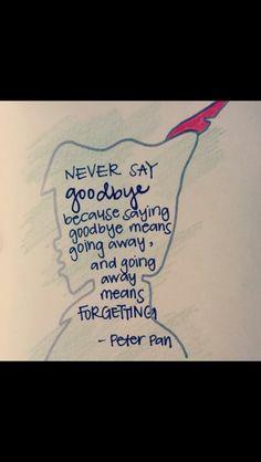 Auf Wiedersehen heißt man sieht sich wieder und ist nicht für immer weg