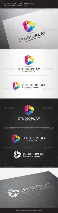 Studio Play Logo   http://graphicriver.net/item/studio-play-logo/8122028?ref=damiamio       St