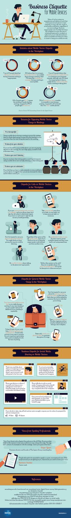Business Etiquette for Mobile Devices #Infographic #Business #MobileDevices