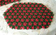 Loom Woven Christmas place mats  (I have some a bit like this and always loved using them on a Christmas table)
