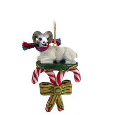 Dall Sheep Candy Cane Ornament