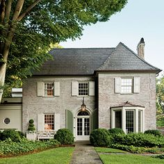 Use a limewash (paint diluted with water and mixed with sand) to soften up harsh brick. - Southern Living, March 2013