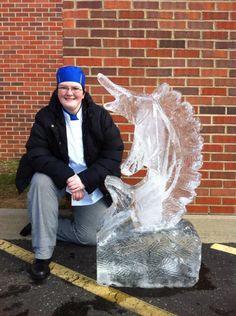ice sculpture Ice Art, Snow Sculptures, Snow And Ice, Sand Art, Riding Helmets
