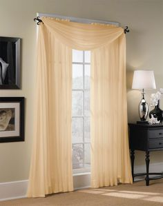 Hampton Sheer Voile Curtain Panel / Curtainworks.com