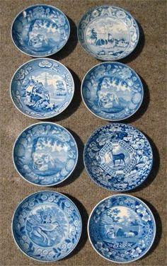 Blue & White Staffordshire: Cider Mug, etc.