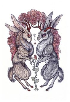 """Rare Hearts"" Art Print by Caitlin Hackett on Jackalope Arte Lowbrow, Mononoke, Arte Horror, Pop Surrealism, Art Graphique, Heart Art, Art Inspo, Art Reference, Fantasy Art"