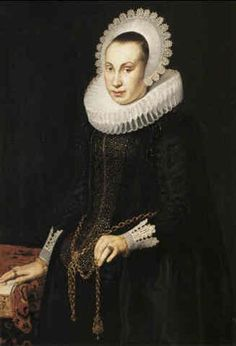 A PORTRAIT OF A LADY par Cornelis van der Voort