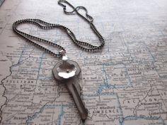 The Shirley Necklace  Vintage Key Necklace by SeizeTheNight, $15.00