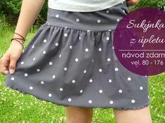 Diy Crafts For Girls, Textiles, Refashion, Polka Dot Top, Kids Fashion, Sewing Patterns, Skirts, Beauty, Tela