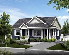 love the house color - hmm... easy to increase to 1500 sq ft