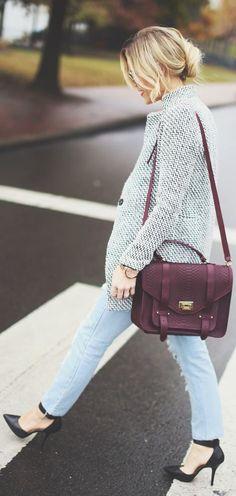 Burgundy bag | Weekend Chic.