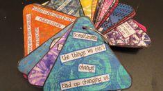 DIY - make your own Gelli Print Inspiration Cards for Prompts - Nice walk thru of her process Art Journal Prompts, Art Journal Pages, Art Journaling, Self Esteem Crafts, Gelli Plate Printing, Gelli Arts, My Art Studio, Plate Art, Arts Ed