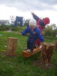 Детский площадка во дворе своими руками