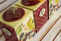 Купить набор емкостей для хранения ЕЖЕВИчКА - бордовый, вишневый, ежевика, для сыпучих продуктов, для кухни