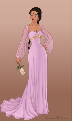Wedding-Dress - Jasmine by on DeviantArt Disney Princess Fashion, Disney Princess Art, Princess Theme, Princess Style, Princess Jasmine Wedding, Disney Jasmine, Pocahontas Disney, Jasmine Dress, Doll Divine