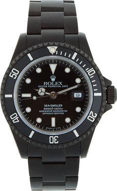 Black Limited Edition - Matte Black Limited Edition Rolex Sea Dweller Watch   SSENSE