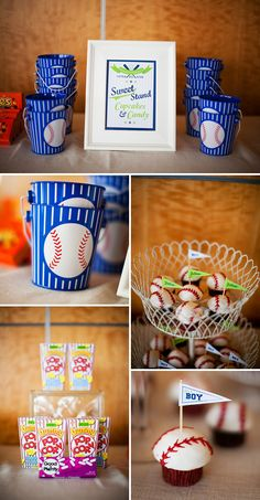 baseball baby shower (could also be a birthday party theme)