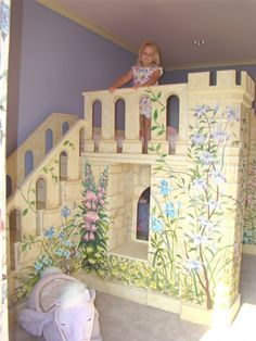 If my daughter wanted a princess bed, this would be awesome... I also like that it doesn't have to be totally pink... :)