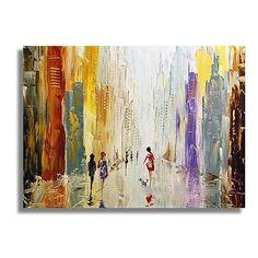 Peint à la main Abstrait Format Horizontal Toile Peinture à l'huile Hang-peint Décoration d'intérieur Un Panneau de 2018 ? €51.96