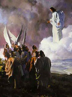 """Ascensão de Cristo   Imagens  BíblicasLucas 24:50-53 – """"Então, os levou para Betânia e, erguendo as mãos, os abençoou.Aconteceu que, enquanto os abençoava, ia-se retirando deles, sendo elevado para o céu.Então, eles, adorando-o, voltaram para Jerusalém, tomados de grande júbilo;e estavam sempre no templo, louvando a Deus."""""""